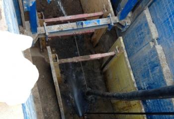 Одновременная работа двух крепей на строительном объекте